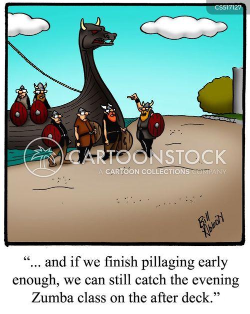 longboats cartoon