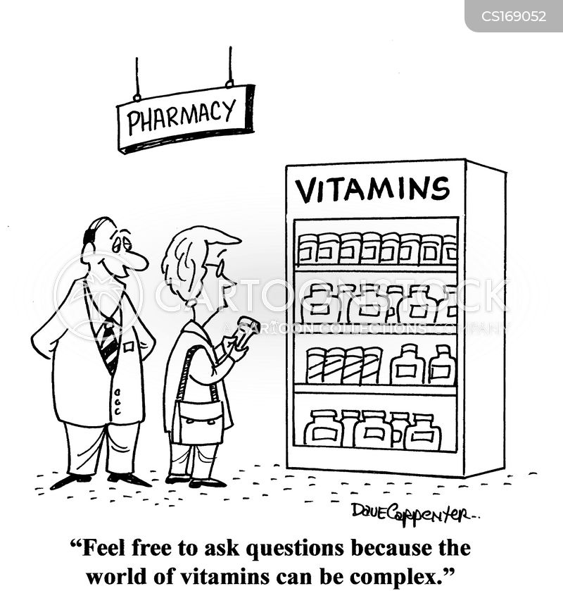 vitamins cartoon