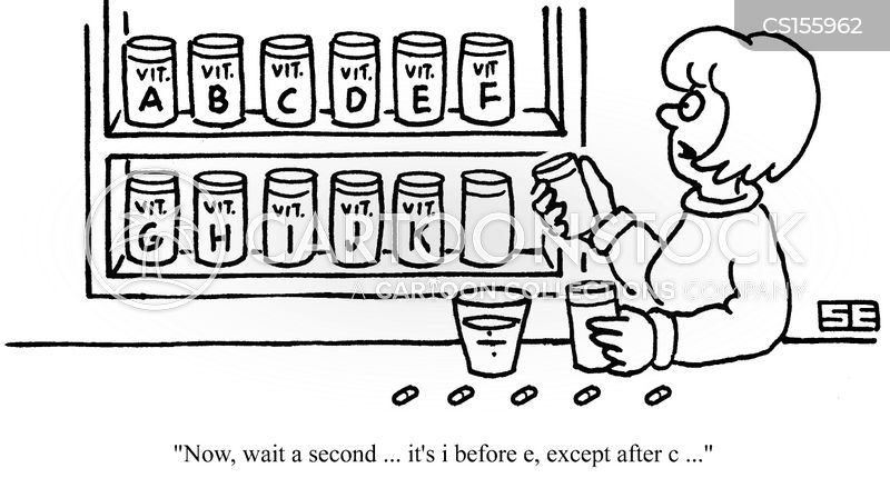 vitamin supplement cartoon