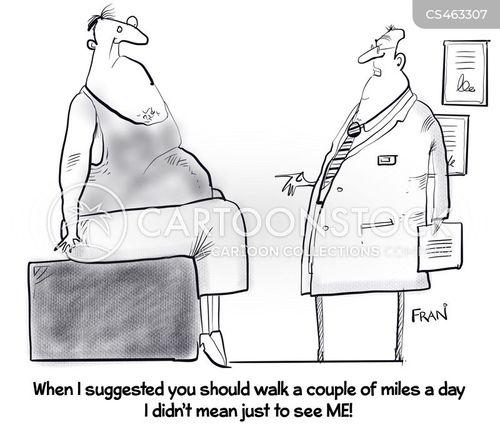 fitness level cartoon