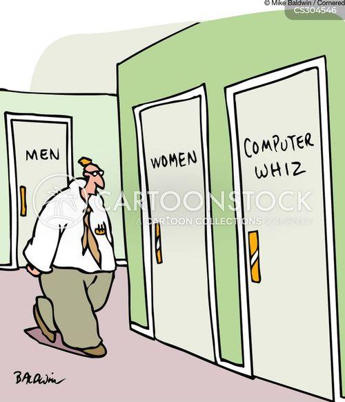washroom doors cartoon