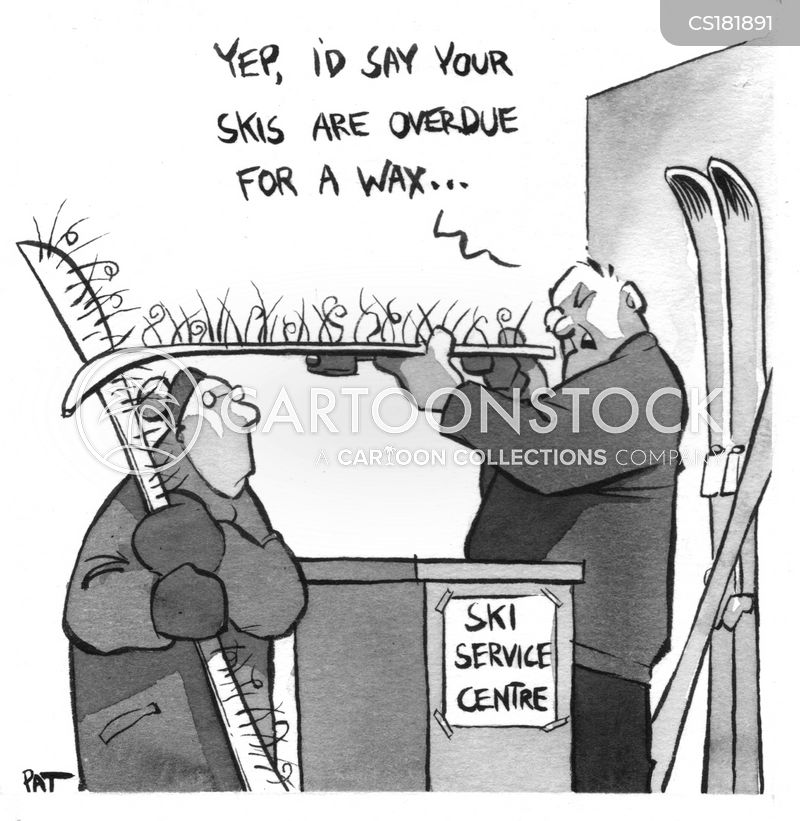 skiing lodges cartoon