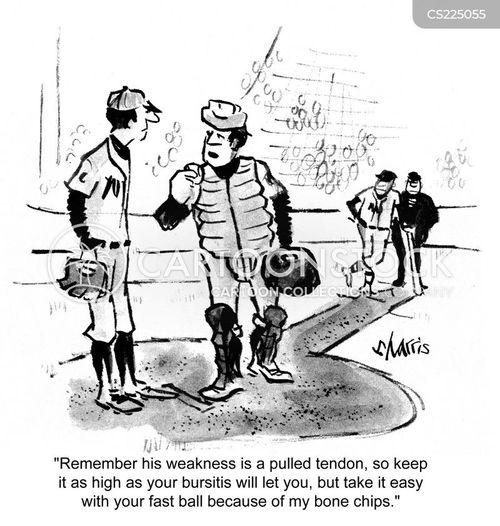 sporting injury cartoon