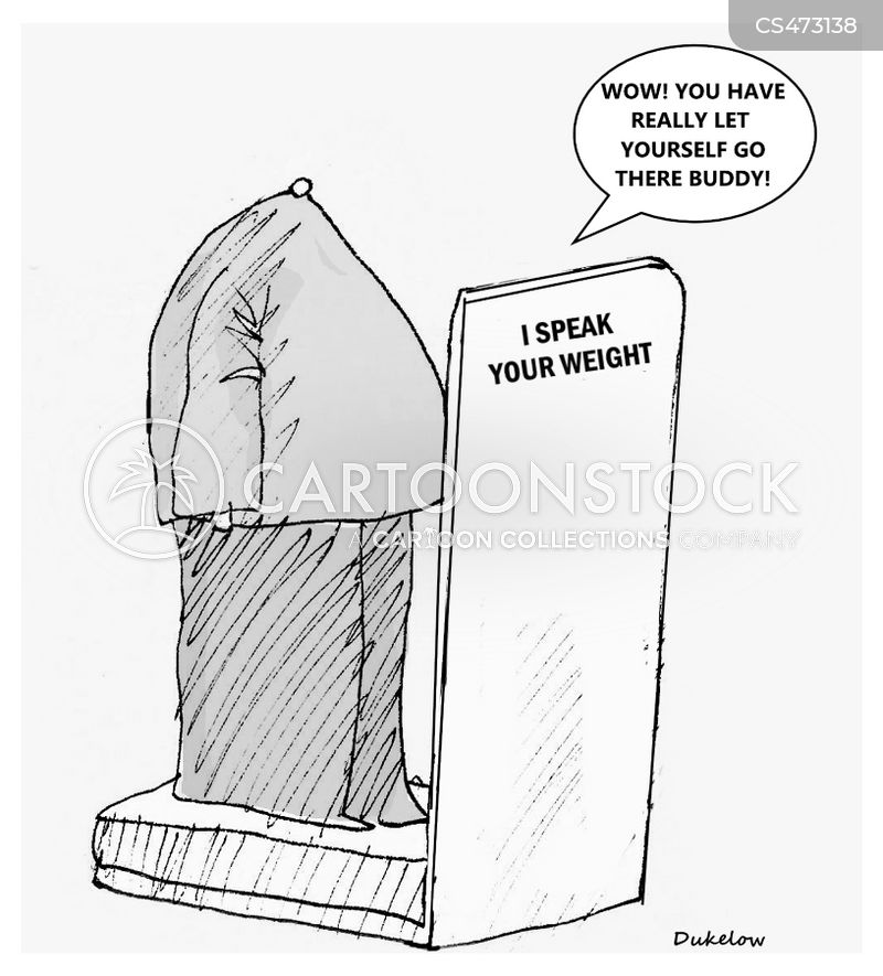 weighing machine cartoon