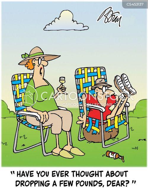 lawn chair cartoon