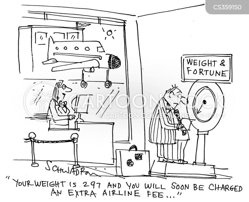 weighed cartoon