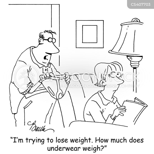 weight gains cartoon