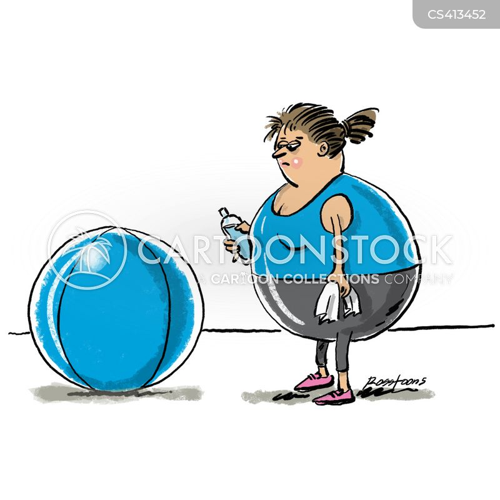 exercise ball cartoon