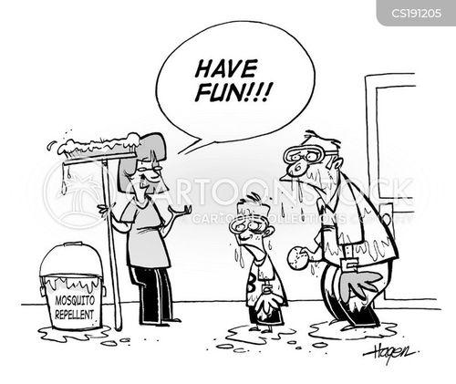 west nile virus cartoon