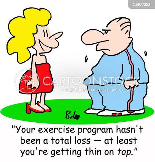 exercise programmes cartoon