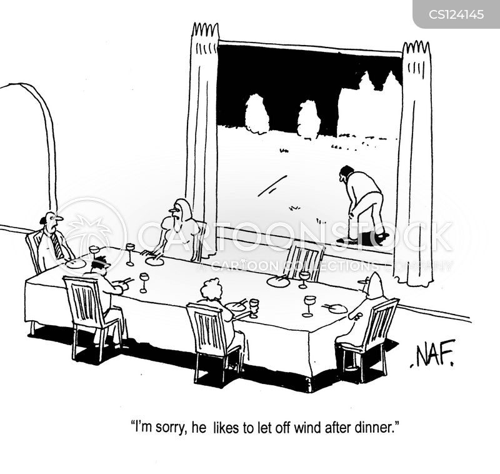 blowing off cartoon