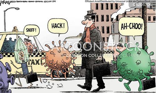 walking diseases cartoon