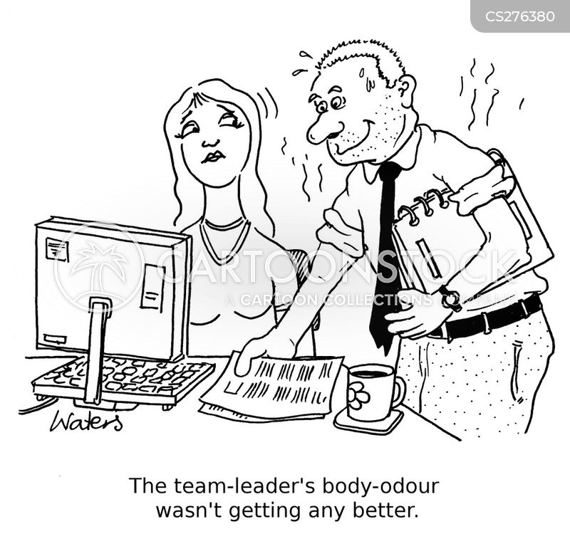 Body-odor Cartoons and Comics - funny pictures from CartoonStock