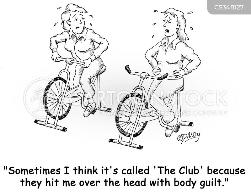 exercise bike cartoon