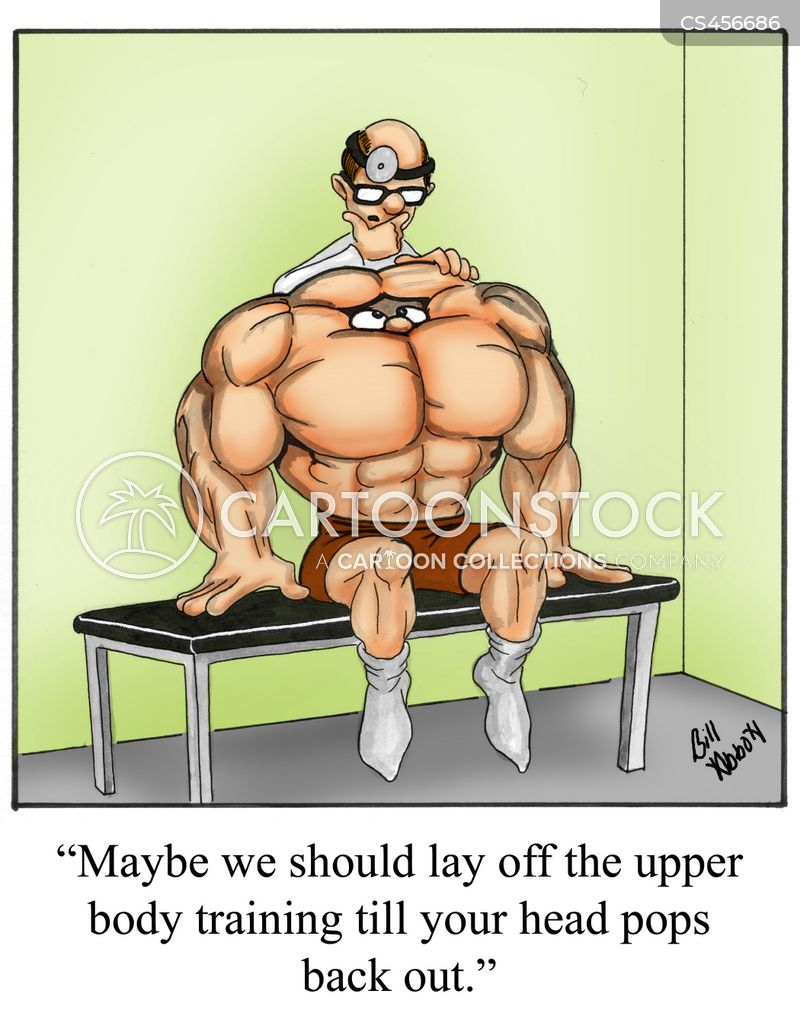 body-builders cartoon