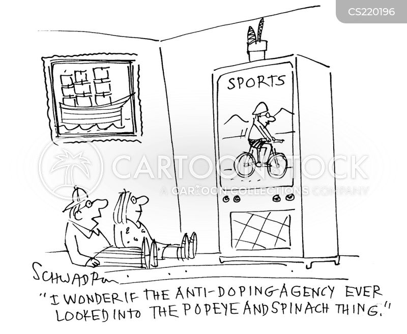 world anti-doping agency cartoon