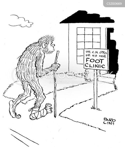 foot clinic cartoon