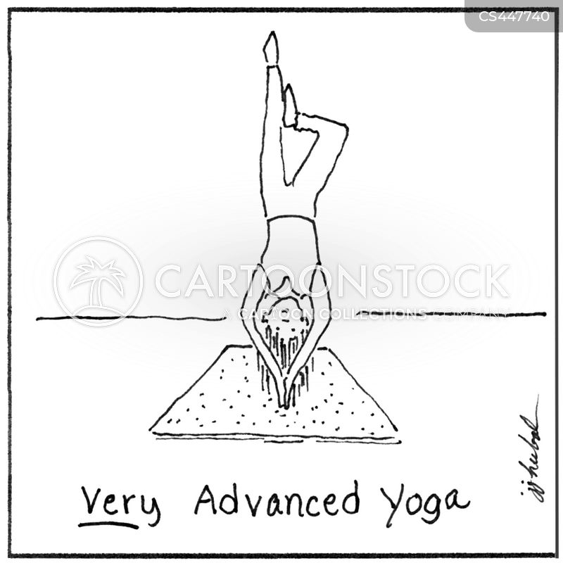 Extreme Yoga Cartoons Cartoon Funny Picture