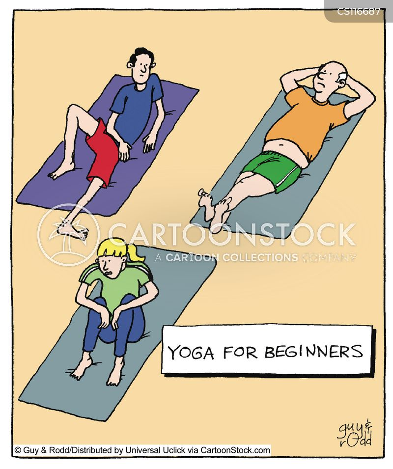 Yoga Mat Cartoons Cartoon Funny Picture