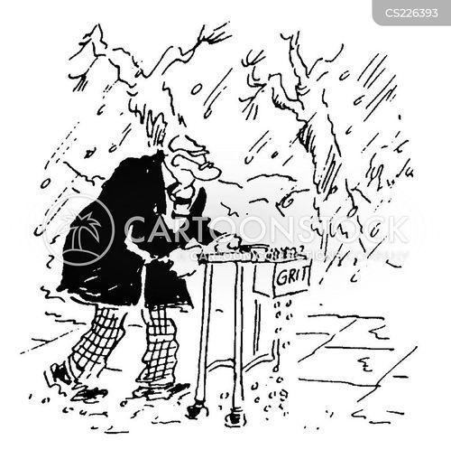 gritting cartoon
