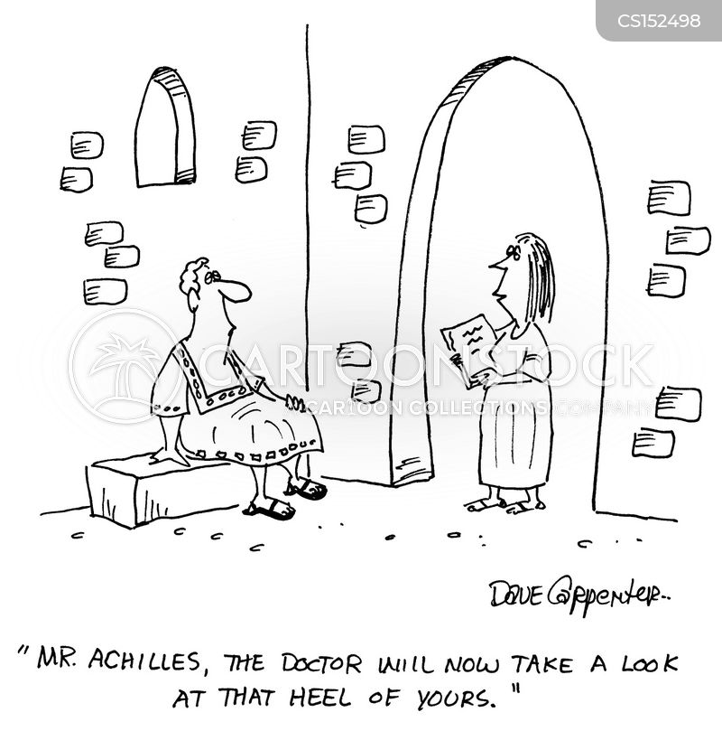 achilles heel cartoon