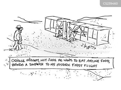 airline food cartoon