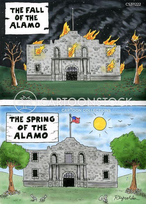 fall of the alamo cartoon