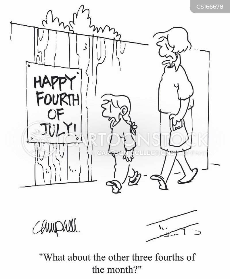 Fourth Of July Cartoon 1 Of 44