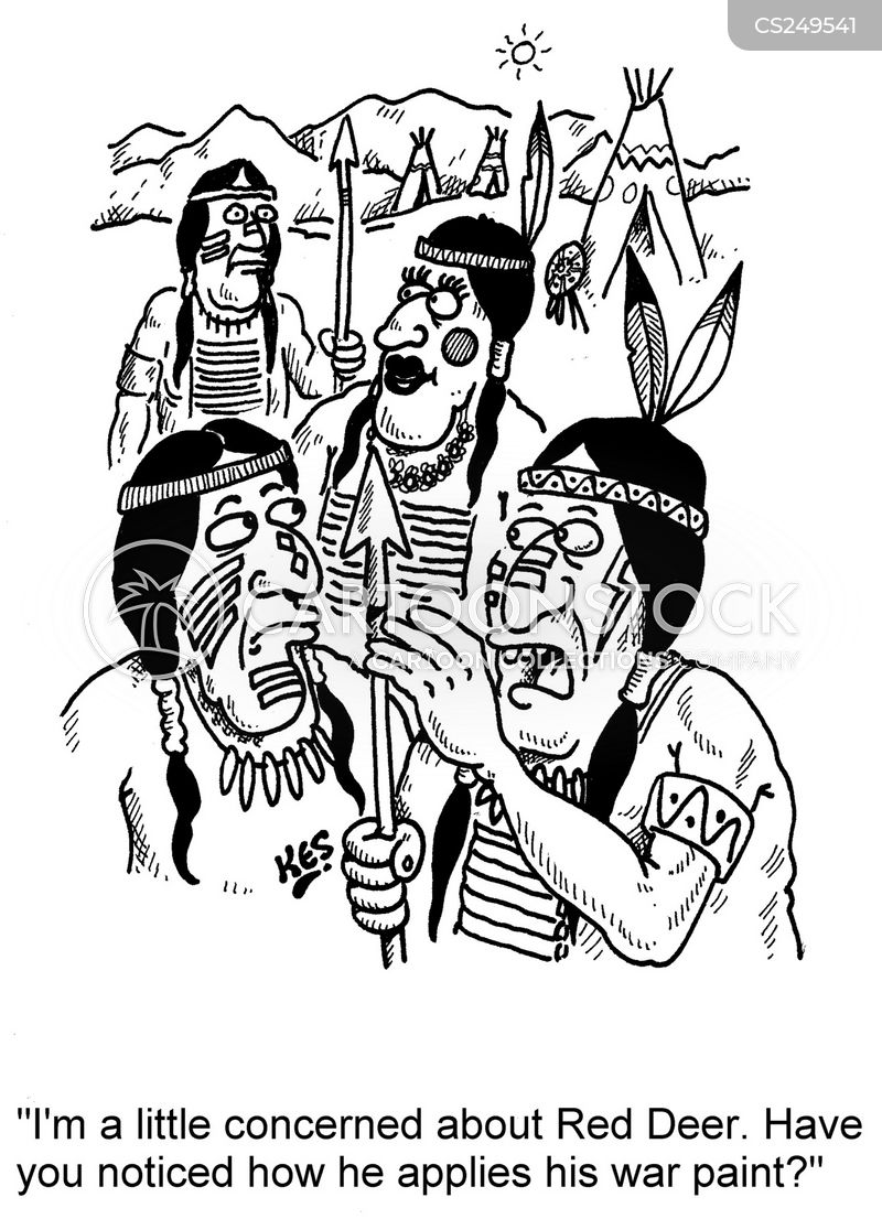 War Paint Cartoons And Comics Funny Pictures From Cartoonstock