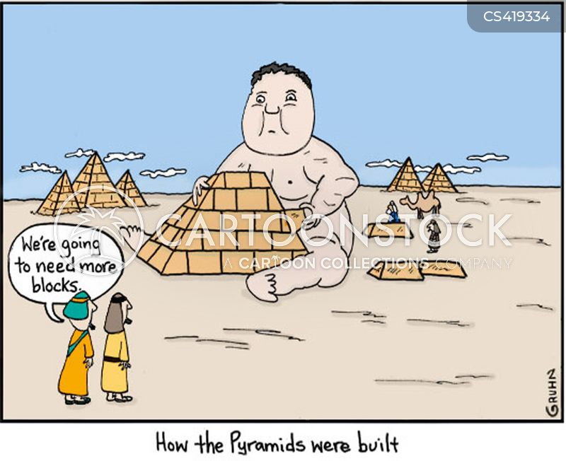 Funny Pictures About Egypt: Pyramid Building Cartoons And Comics