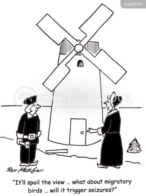 wind-mill cartoon