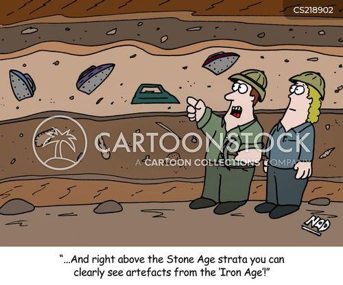 excavating cartoon