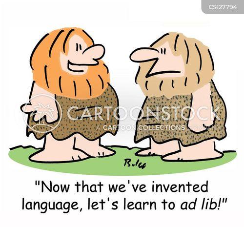 cave-man cartoon