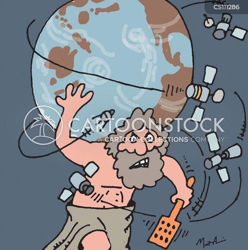 space debris cartoon