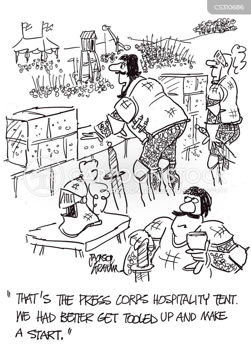 hospitality tents cartoon