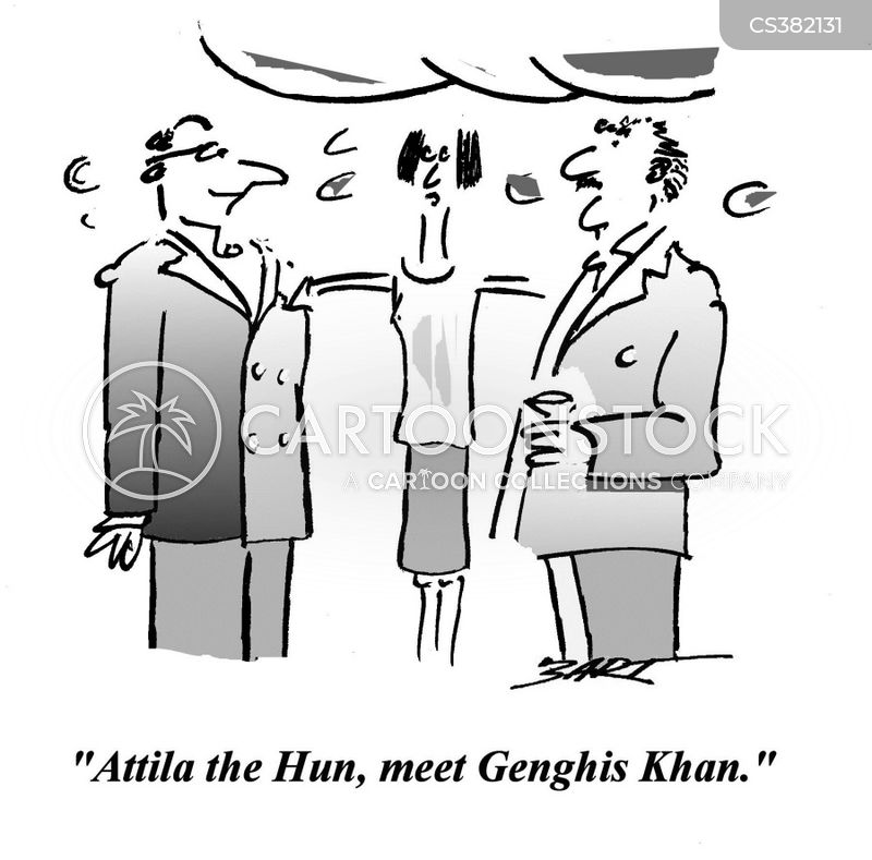 genghis khan cartoon