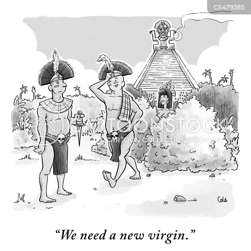 sacrificial virgins cartoon