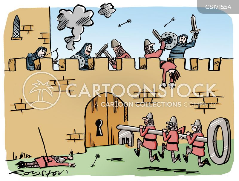 battling cartoon