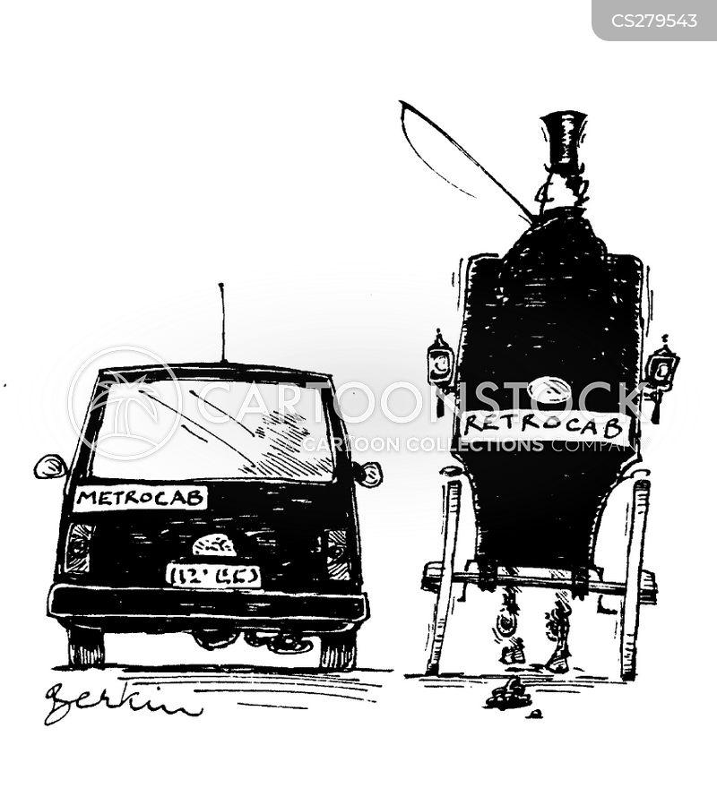 horse and carriage cartoon
