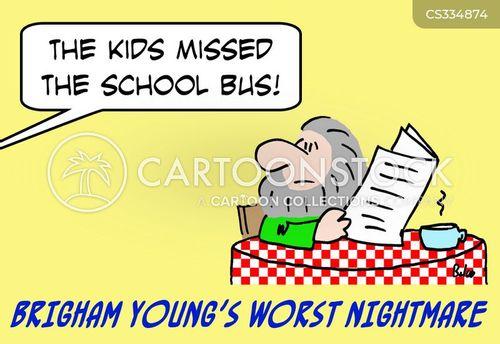 missing the bus cartoon