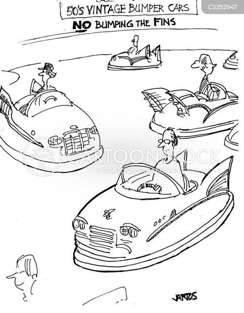 bumper car cartoon
