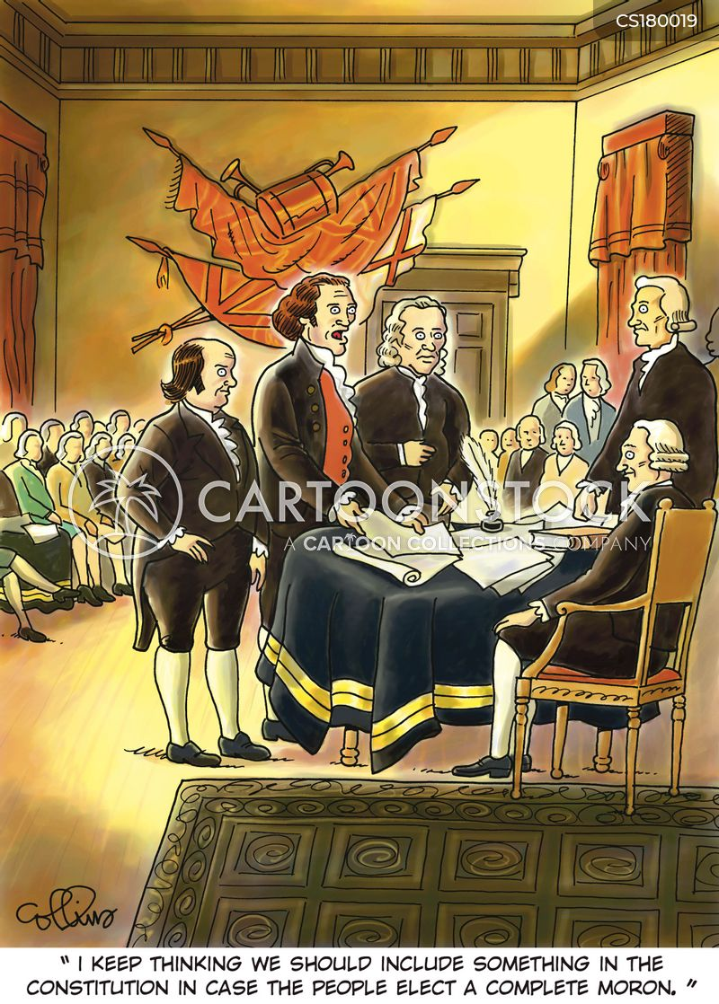 founding father cartoon