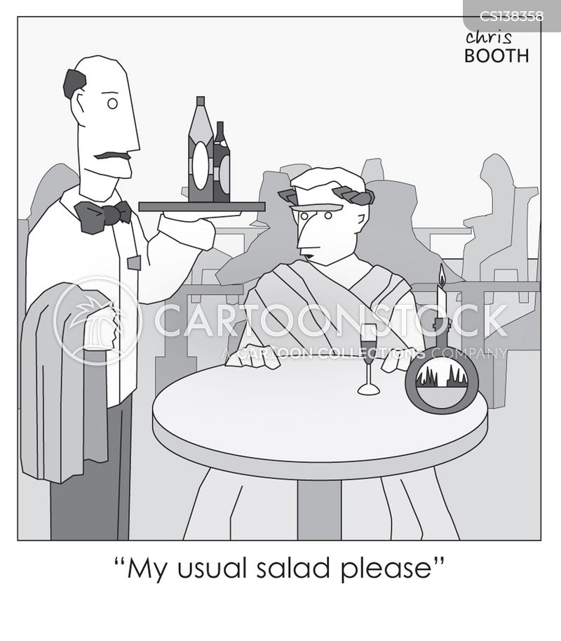 caesar salads cartoon