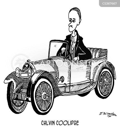 calvin coolidge cartoon