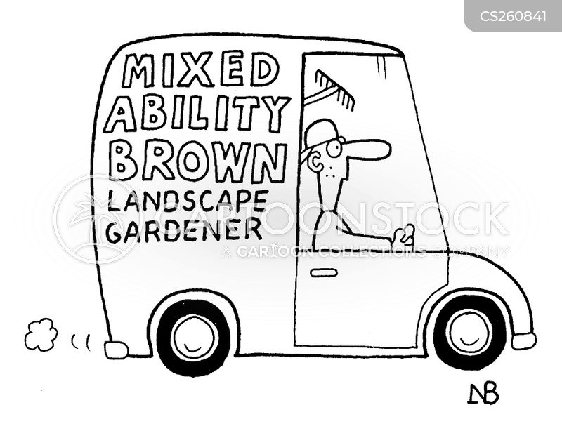 landscape gardening cartoon