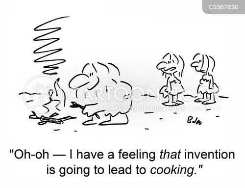 men cooking cartoon