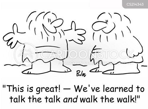 walk the walk cartoon