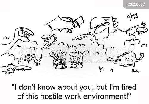 hostile environment cartoon