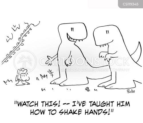 hand shake cartoon