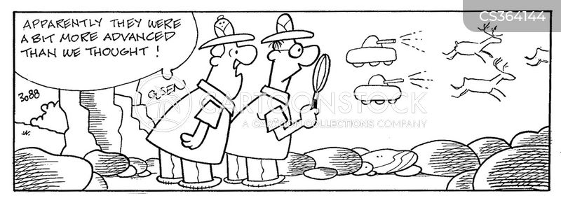 archaeological discoveries cartoon